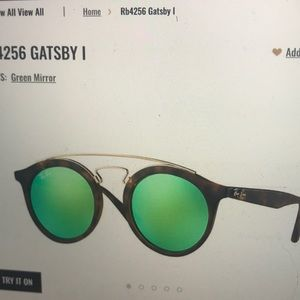 Authentic Ray Ban Gatsby I! Lightly worn!